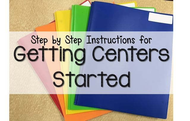 How do you introduce literacy centers at the beginning of the year?  Check out these simple step-by-step directions!