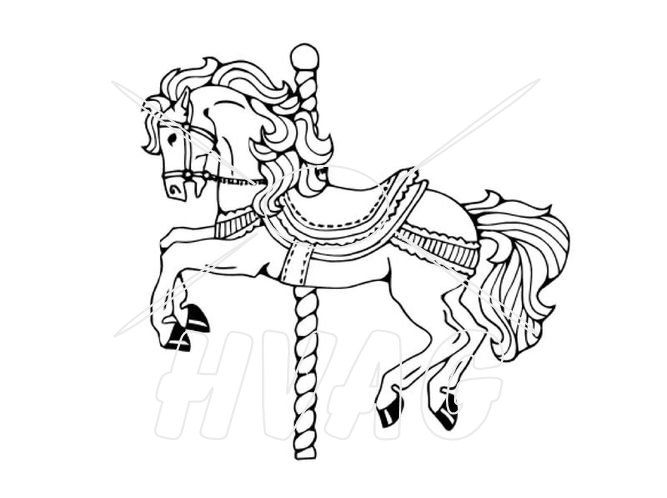 Carousel Drawings For Carousel Horse Reach Wash