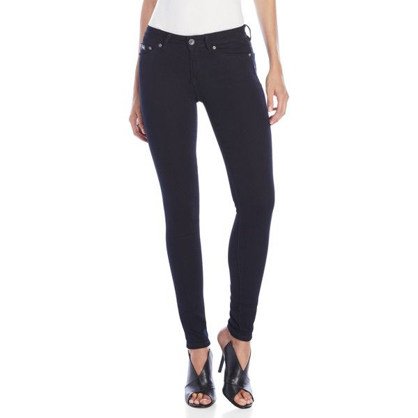 Superdry Alexia Jeggings (560 MXN) ❤ liked on Polyvore featuring pants, leggings, blue, zip pants, blue pants, blue leggings, blue trousers and blue denim leggings