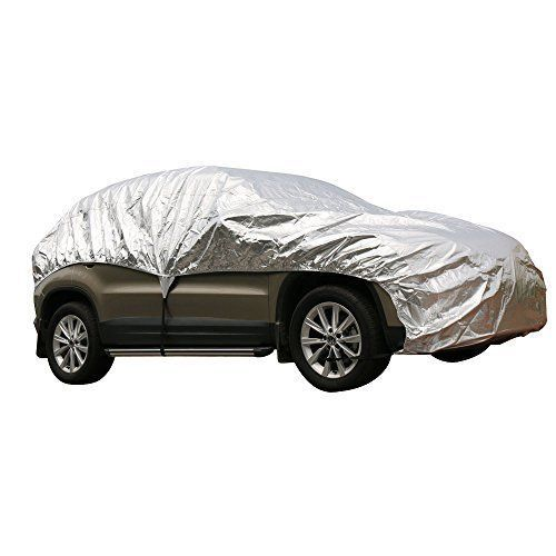 """Leader Accessories Aluminum Cool Car Cover Easy Setup size XL ~ Cars up to 225"""" #LeaderAccessories"""