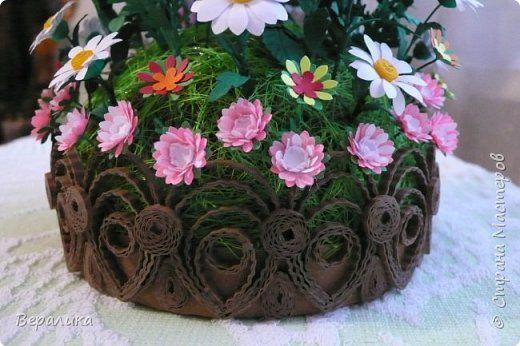 Мастер-класс Поделка изделие Квиллинг Основание для цветочной клумбочки Бумажные полосы Картон фото 1