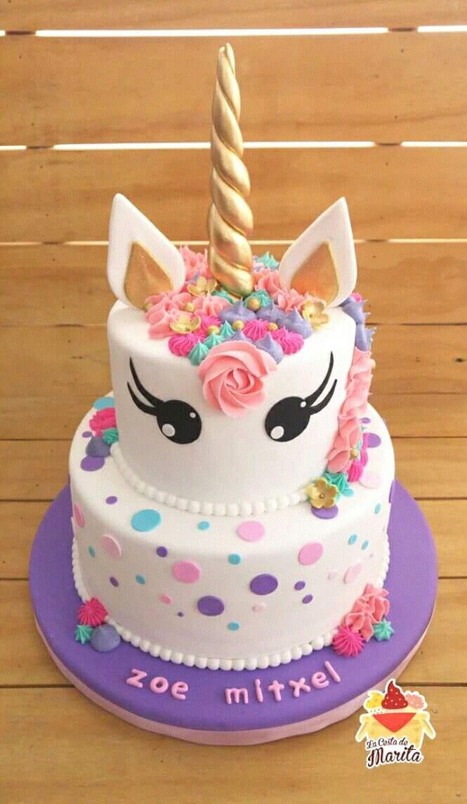 Unicorn Cake Pastel De Cumpleaños Tarta De