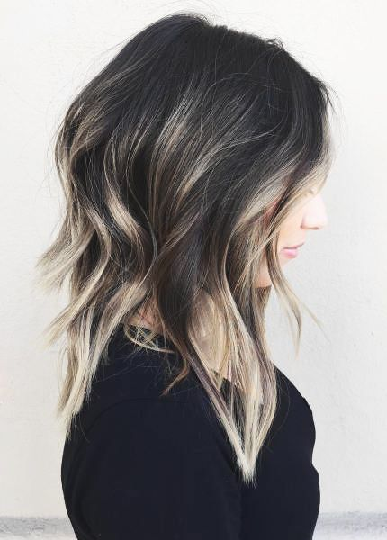 balayage layers | long bob