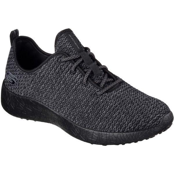 Skechers Men's Burst - Donlen Black - Skechers ($70) ❤ liked on Polyvore featuring men's fashion, men's shoes, men's sneakers, black, mens woven shoes, skechers mens shoes, mens sneakers, mens black sneakers and mens lace up shoes