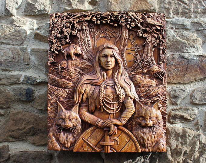 Natural Wood Carvings Wall Art Frames Home Decor De Olegwoodart In 2020 Viking Art Viking Decor Wood Carving Art