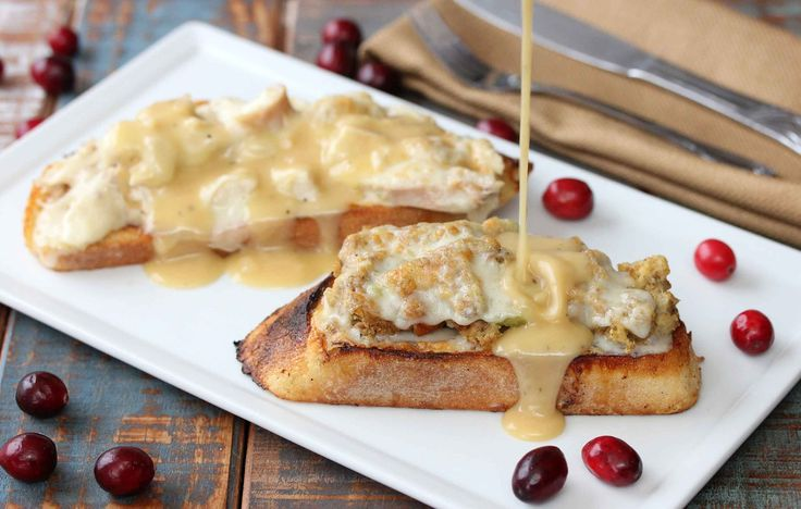After Thanksgiving Open This After Thanksgiving Open-Faced Sandwich takes all the best from that glorious feast and puts it all in one fantastic sandwich.