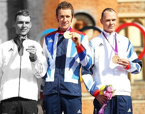 Team GB Medals 2012  07. Bradley Wiggins - GOLD  08. Christopher Froome - BRONZE  (Cycling, Road: Men's Individual Time Trial)
