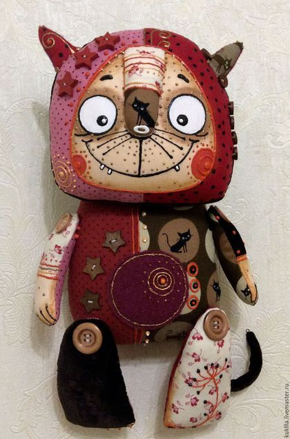 Купить или заказать Котик - коток. в интернет-магазине на Ярмарке Мастеров. У меня есть кото-грелка, Кото-мурка и шипелка, Кото-прыг и кото-пляс, Кото-профиль, кото-фас! А у вас?…