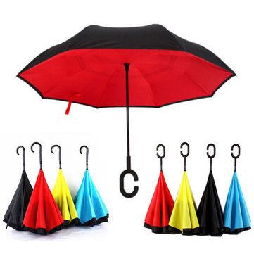Only US$18.99 , shop KCASA UB-1 Creative Reverse Double Layer Umbrella Folding Inverted Windproof Car Standing Rain Protection at Banggood.com. Buy fashion Umbrellas online.