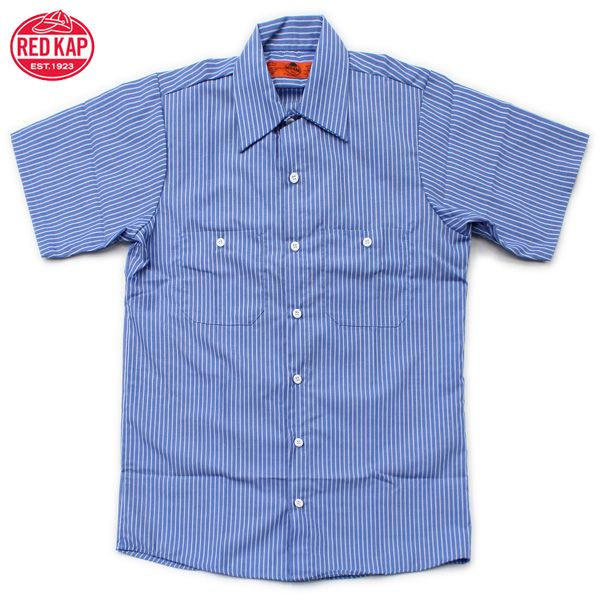 RED KAP ( Red cap) sale / lowest /SHORT SLEEVE STRIPE WORK SHIRTS (short  sleeve stripe work shirt) REDCAP and Red Cup / short sleeve / sleeve /  casual ...