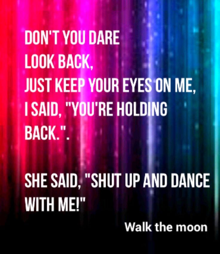 Songtext von WALK THE MOON - Shut Up and Dance Lyrics