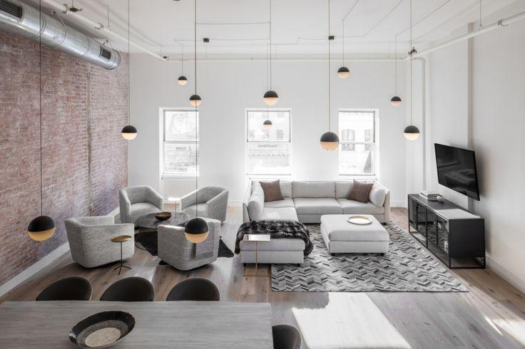 Monochromatyczny loft w Nowym Yorku - Wnętrze - Zainspiruj się z Foorni.pl