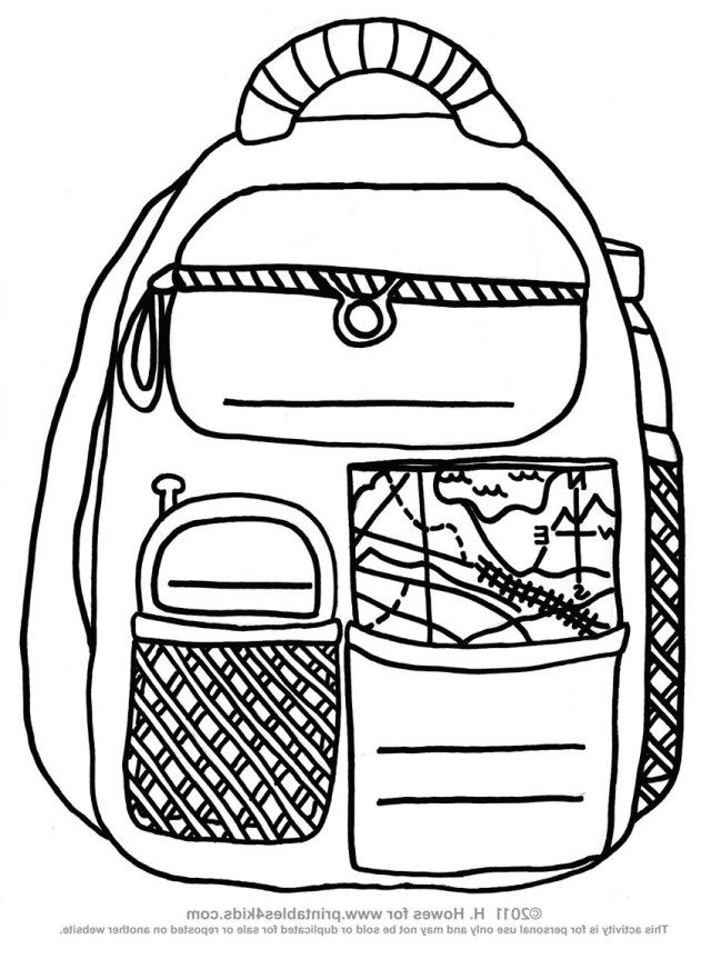 Beautiful Photo Of Backpack Coloring Page Shopkins Colouring