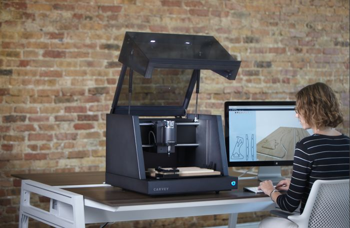 """Tools - Desktop CNC machine"" Carvey: The 3D carving machine for the maker in all of us by Inventables — Kickstarter"