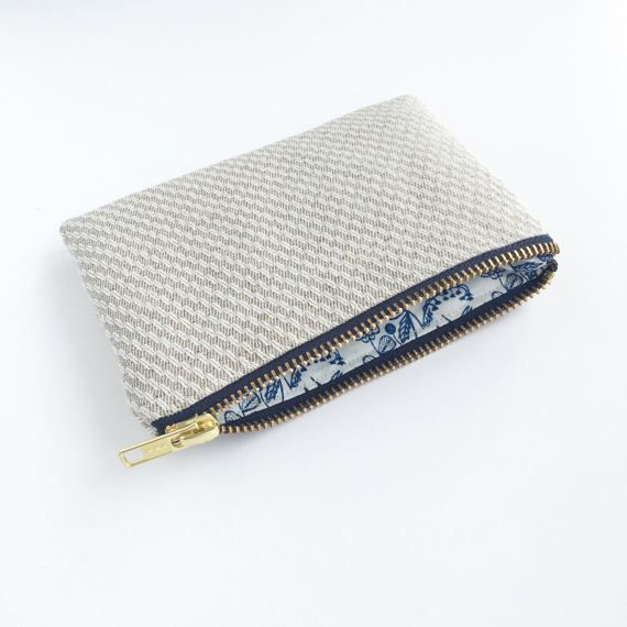 Sustainable coin purse Hays Organic Hemp and cotton purse