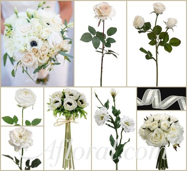 White Rose & Lisianthus Wedding Bouquet~ Lana's Inspiration Board