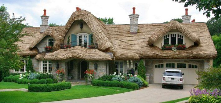 121 best ideas about thatched roof buildings on pinterest for Piani di casa cottage storybook