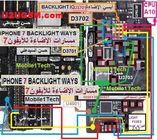 Iphone 7 Lcd Display Light Ic Solution Jumper Problem Ways Smartphone Repairing