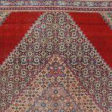 Prezzo scandaloso vista la qualità di questo vecchio tappeto Tabriz a disegno Mahi con un'annodatura vera di 60 nodi ogni raj ( misura persi...
