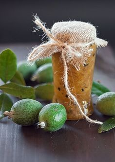 Feijoa and passion fruit jam