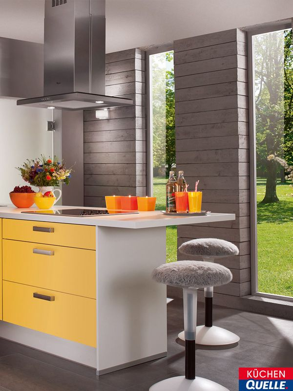 9 best Gelbe Küchen images on Pinterest Yellow kitchens - offene k chen mit tresen
