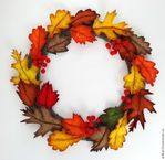 Мобильный LiveInternet Осенний венок из фетровых листьев. Мастер-класс | svtusik555 - Дневник svtusik555 |