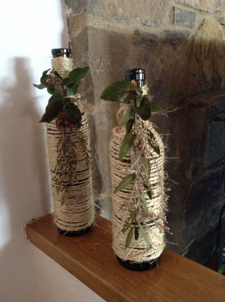 Botellas de vino decoradas botellas y tarros decorados - Botellero de vino ...