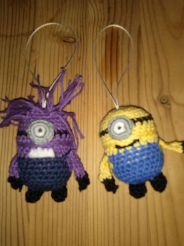 Crochet Minions with the kindereggs inside.