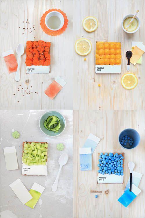Foodie take on Pantone Color Chips