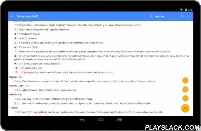 """Spanish Dictionary RAE  Android App - playslack.com ,  Solve instantly any questions about the proper use and / or spelling of a Spanish word, by directly accessing the database of the RAE (Royal Spanish Academy of Language). Spanish Dictionary RAE is free, without ads and is designed for users looking for simplicity and elegance in an app.RAE Spanish Dictionary is an ONLINE dictionary and therefore requires an internet connection. WHAT OUR USERS SAY: - """"Very good Very good interface and…"""