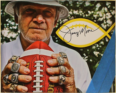 Appalachian State Football Jerry Moore Hand Signed Rings Photo Color | eBay