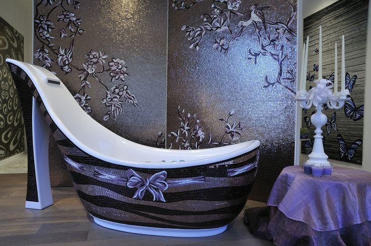 vasca mod.Audrey, mosaico artistico. #italyluxury  www.stanzedautore.it