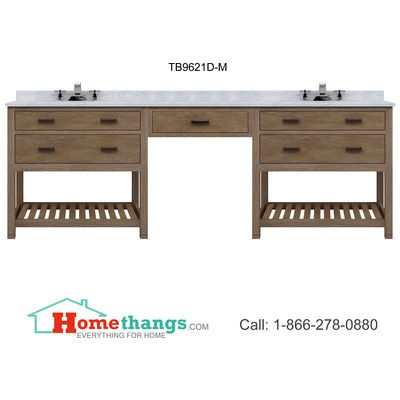 Photos On London in Double Sink Vanity Set in Espresso DECD