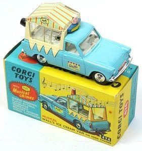 "Corgi Toys 474 Musical Walls Ice Cream Van with working ""music box"" jingle."