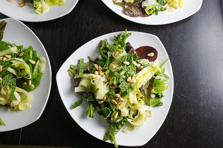 Zucchini Salad with Pine Nuts and Mint Recipe