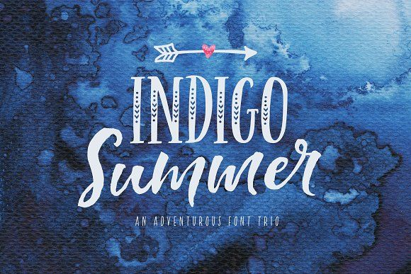 NEW! Indigo Summer Font Trio by Nicky Laatz on @creativemarket