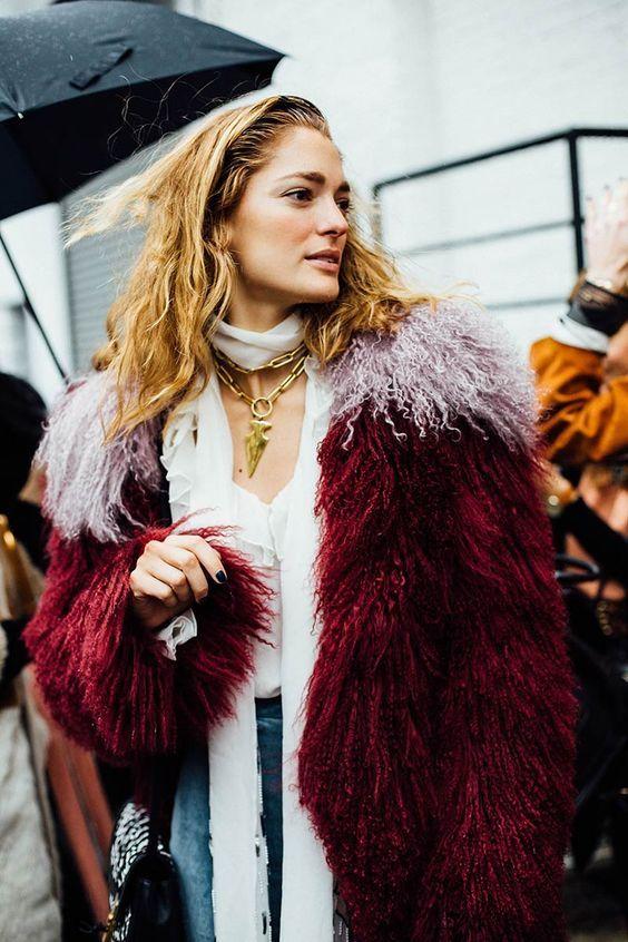 Moda en la calle street style New York Fashion Week febrero 2016 Rodarte y…