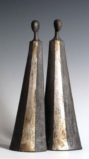 Tony Foard, an English potter specialising in raku and smoke fired figurative ceramics.