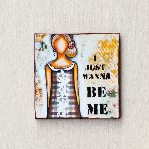 Inspirational Magnets - Refrigerator Magnets - Cute Magnet - Fridge Magnets - Magnets Handmade - Self Love - Whimsical Art - Mixed Media Art
