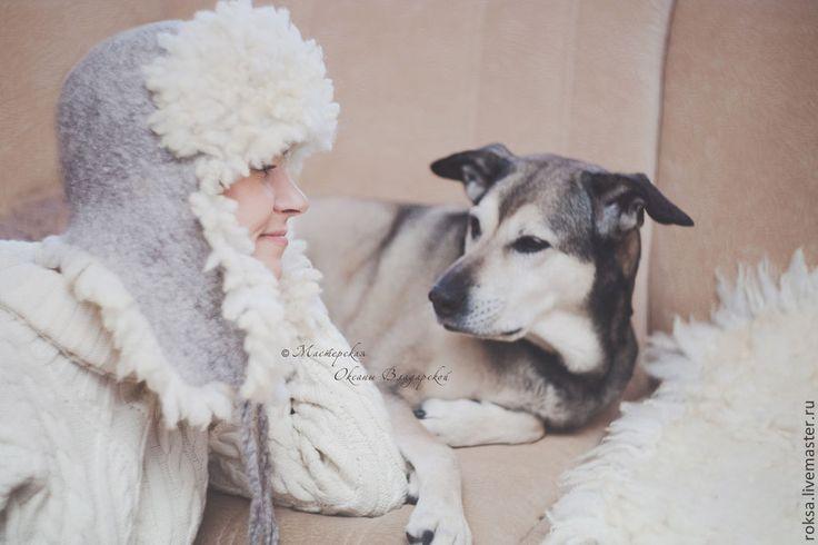 """Войлочная шапка-ушанка """"Сибирячка"""" - зимняя шапка,зимняя одежда,зимняя мода"""