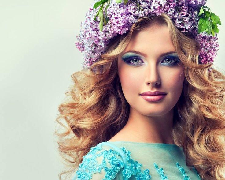 Hair Flowers Of Beautiful Girl Wallpaper