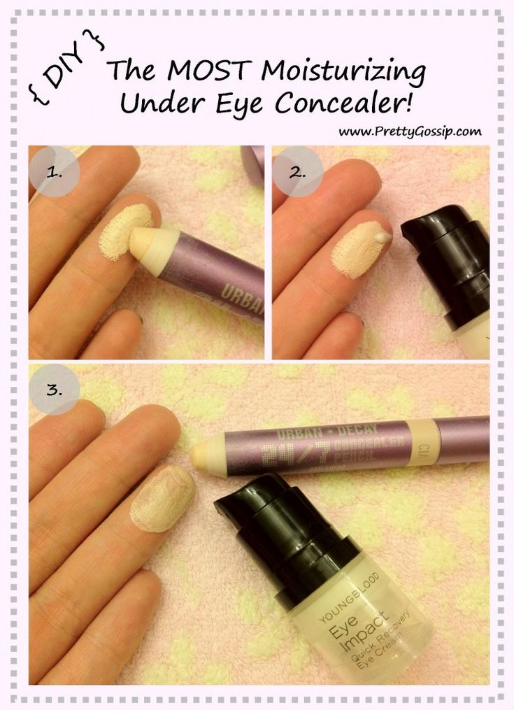 Must have for winter! DIY The Most Moisturizing Concealer... EVER! Tutorial on http://prettygossip.com/2012/09/05/diy-the-most-moisturizing-under-eye-concealer/# @Urban Decay @Youngblood Mineral Cosmetics