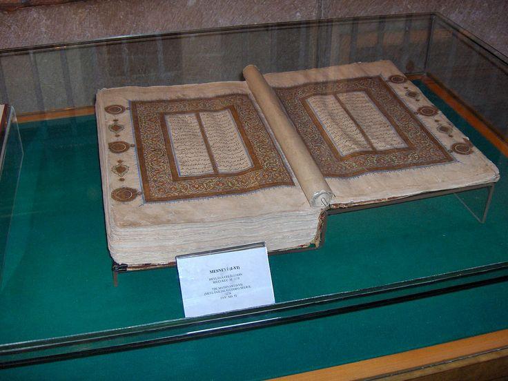 Rumi - The original book of Rumi, named Mesnevi-Maneviyat (Maṭnawīye Ma'nawī) about the moral and spiritual teachings -sufi facts and values- Mevlâna Museum, Konya, Turkey.