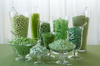 It is an Emerald City Candy buffet for a Wicked or Wizard of Oz party or wedding.
