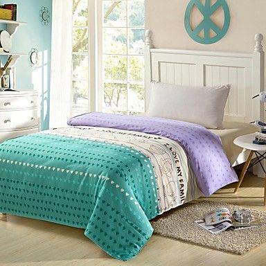 eu amo minha casa 100% algodão sarja descascou o teste padrão 3 pcs conjunto de folhas de cama de solteiro / queen de 4994292 2016 por R$106,64