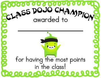 Another Dojo certificate for highest points. Might also be cool to make one for…
