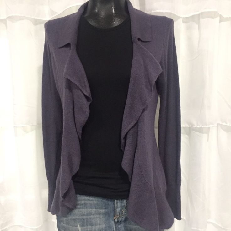 SMALL - BANANA REPUBLIC Purple Wool And Cashmere Blend Cardigan Sweater  | Clothing, Shoes & Accessories, Women's Clothing, Sweaters | eBay!