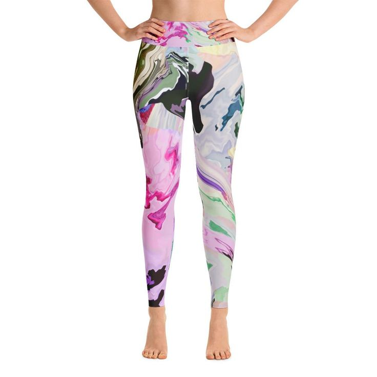Color waves Yoga Leggings