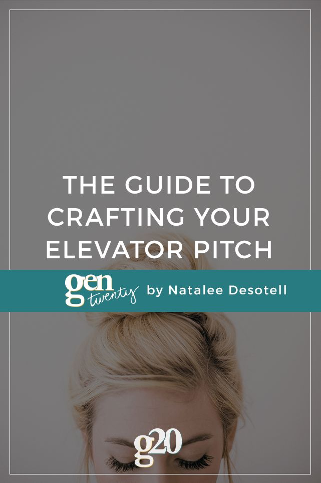 Superior The Guide To Crafting Your Elevator Pitch. Job Interview ...