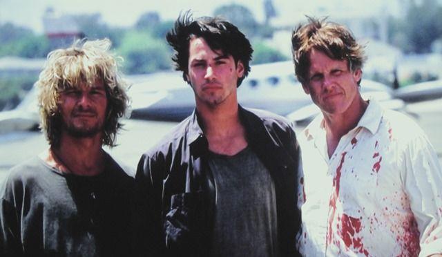 Patrick Swayze, Keanu Reeves and Gary Busey in Point Break (1991)